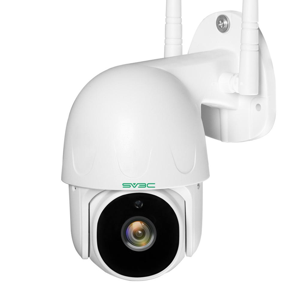 SV3C 1080P WIFI Outdoor Security Camera Pan Tilt Two-way Audio Night Vision Human Detection ONVIF Camera 128GB SD Card Remote Cam Home IP Camera EU Plug