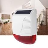 EARYKONG 433MHz Wireless Sound Alarm Outdoor Waterproof Solar Power Light Sound Siren For GSM Alarm System Fire Alarm