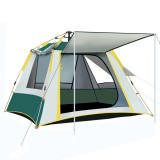 5-6 People Fully Automatic Set Up Tent With 3 Windows Family Picnic Travel Rainproof Windproof Camping Tent Carpa