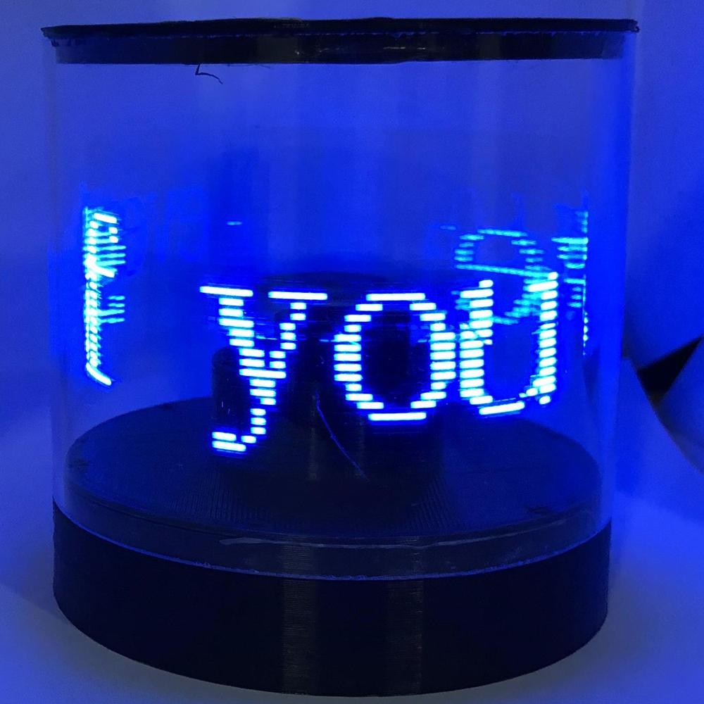DIY Rotating LED Electronic Kit Electronic Production Rotating POV Electronic Competition Creative LED Advertising Machine