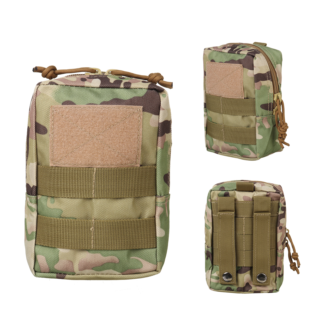 Military Tactical Camo Belt Pouch Bag Pack Phone Bags Molle Pouch Camping Waist Pocket Bag Phone Case Pocket For Hunting