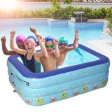 1-4 Persons Inflatable Swimming Pool Outdoor Summer Inflatable Pool Air Pump for Children Adult