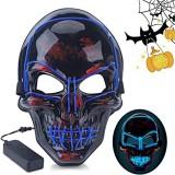 Halloween LED Mask Fluorescent Glowing Mask Cold Light Mask Party EL Mask Light Up Masks Glow In Dark
