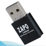 Zapo W58 Mini 5Ghz Adapter Wifi USB 600Mbps Dual Band Wireless 802.11Ac Network Card Adapter Built in Antenna for Windows Linux Syst