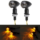 12V Pair Motorcycle Bullet Mini Turn Signal Amber Light Indicator Universal