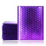50Pcs Poly Bubble Envelope Purple Poly Bubble Mailers Aluminum Foil Bags Padded Envelopes Self Seal Bubble Envelope Shipping Mailer
