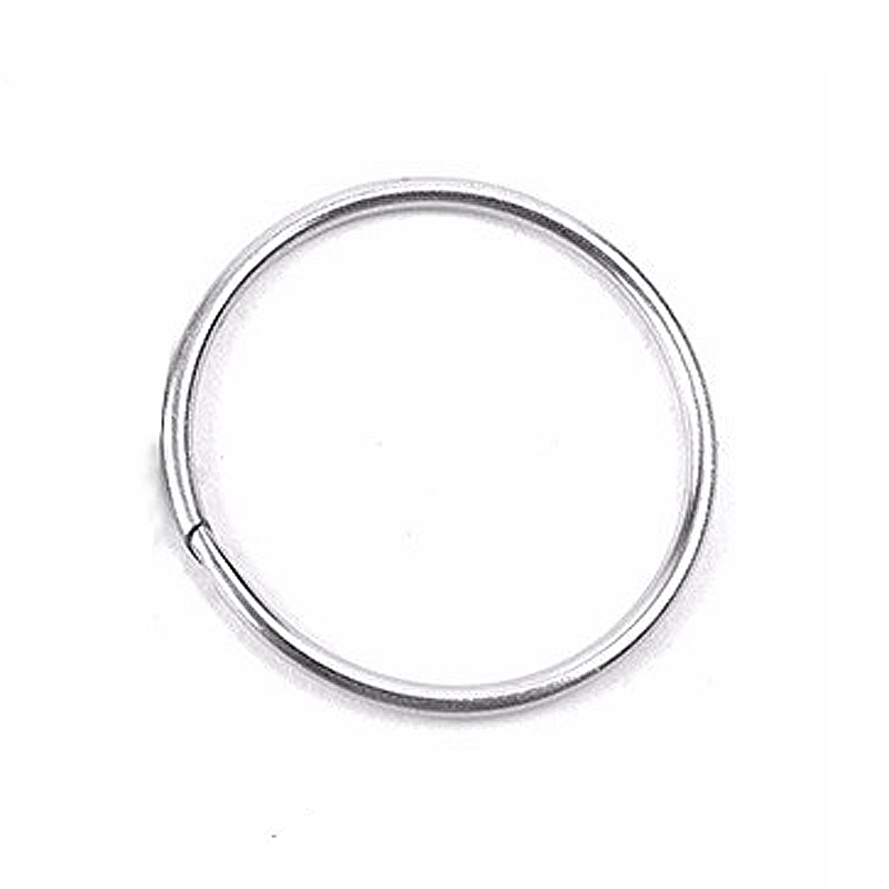 10PCS 32mm Diameter Outdoor EDC Key Ring Buckle Metal Round Chain Quick Release Clamp Ring