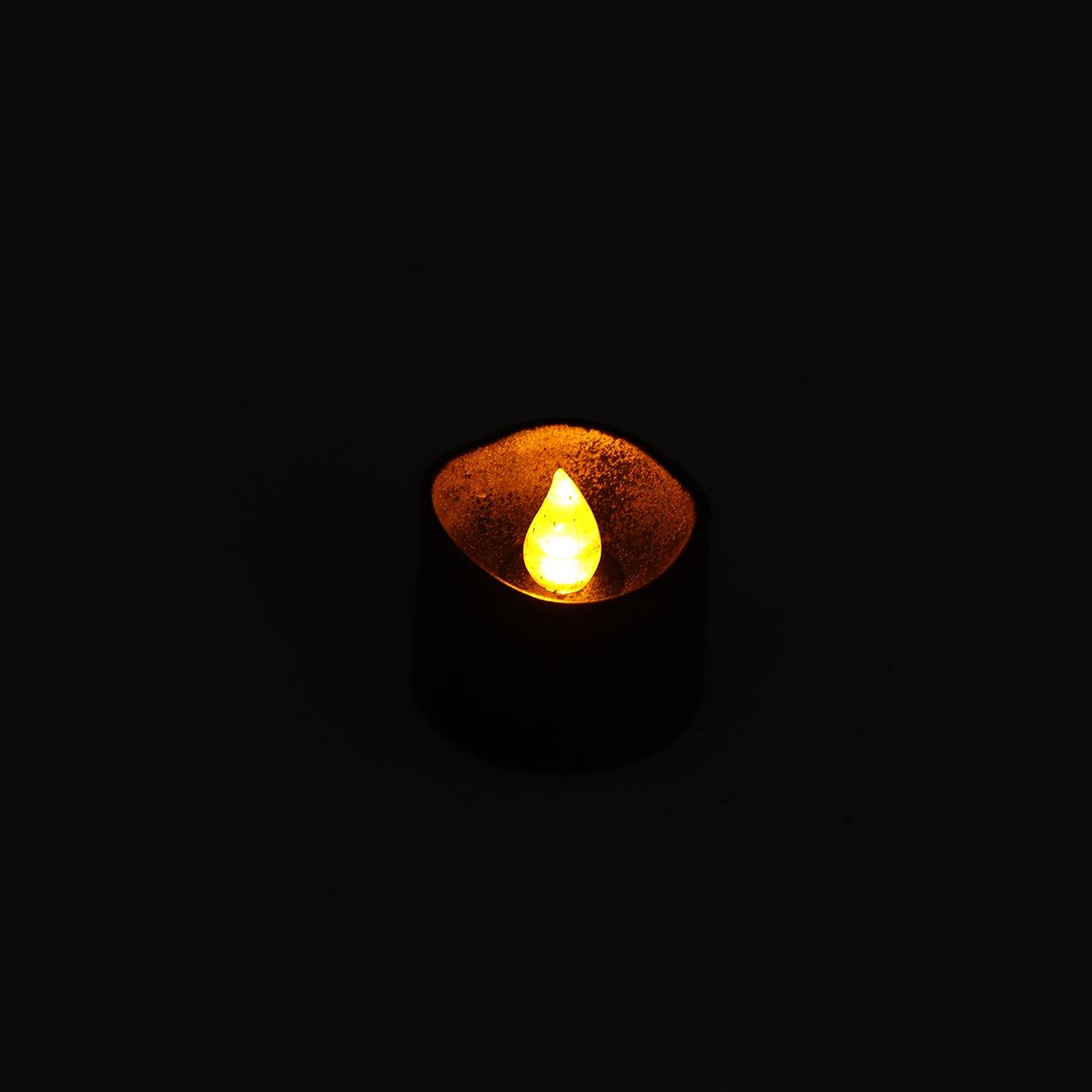 12PCS Christmas Halloween Flameless Candles LED Tea Lights Battery Operated Deco