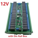 12V 32 Channel RS485 Modbus RTU Relay Module with DIN35 Rail Box MODBUS RTU Command