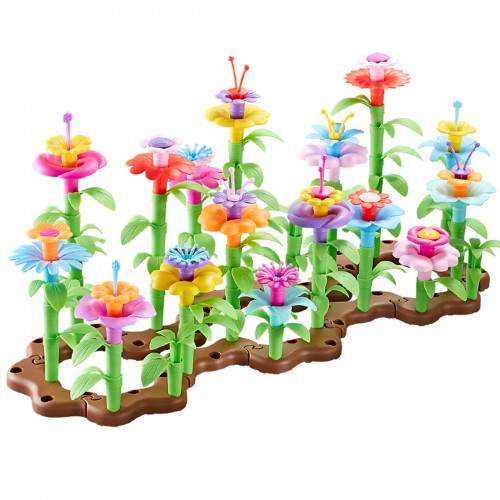 Changeable Garden Building Blocks Toy Creative Bouquet Art Crafts Educational Blocks Playset Gift Toddle Kids Children