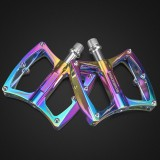 ROCKBROS LX-K340 1 Pair Bike Pedals CNC Aluminum Alloy Sealed Bearing Anti-slip Bicycle Pedals Colorful MTB Foot Pedals Bike Accessories