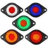 2PCS 24V 8LED 2 Color Trailer Side Marker Lights Truck Caravan Stop Indicator Lamp