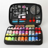 97Pcs Sewing Box Set Large Capacity Black Sewing Bag Cotton Thread Needle Scissor Thread Remover Tool Box For Home