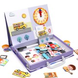 Letter Puzzles Educational Time Management Games Educational Toys Puzzles Teaching Aids Puzzle Toy for Kids