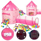 135CM Kids Play Tent Ball Pool Tent Princess Castle Portable Indoor Outdoor Baby Tents House Hut for Kids Toys