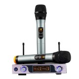 Dual Channel VHF Handheld Wireless Microphone Receiver System with Adjustable Volume Control Two Cordless LCD Handheld Noise Reduction Mics for Home KTV Conference Karaoke