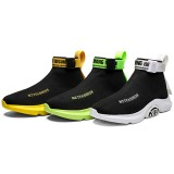 Men Lightweight Sock Running Shoes High-Top Thick Bottom Jogging Sneakers Breathable Training Athletic Walking Shoes