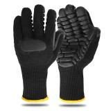 Rubber Touch Screen Gloves Anti-slip Shockproof Worker Safe Gloves Thickened Mining Drill Work Tactical Gloves for Women Men