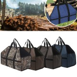 210D Oxford Cloth Firewood Carrier Bag Wood Holder Storage Bag Tote Organizer Outdoor Camping Picnic BBQ
