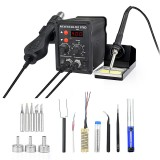 NEWACALOX 878D 700W Desoldering Hot Air BGA Rework Soldering Station Electric Soldering Iron Kit DIY Welding Tools