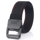 AWMN Nylon 125cm Tactical Belt Double Ring Heavy-Duty Quick-Release Metal Buckle Belt