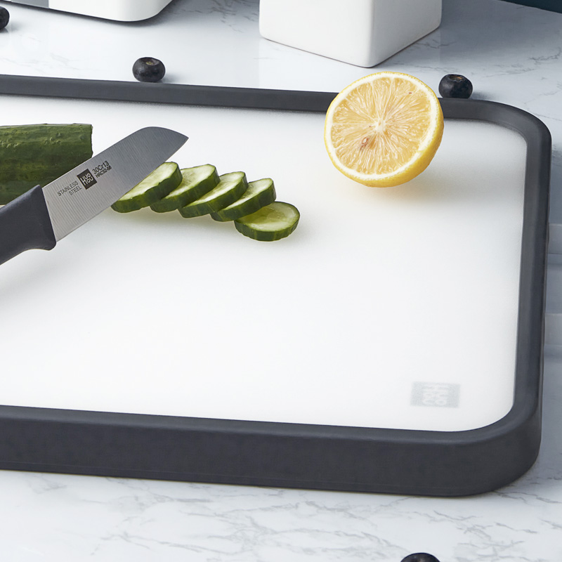Huohou Cutting Board Stainless Steel PP Double-sided Cutting Board Food Grade Material PP Surface Kitchen Cutting Board Kitchen Tool
