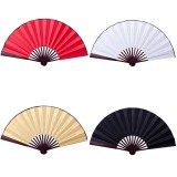 8″/10″ Silk White Chinese Folding Fan Hand Wave Fan Wooden Bamboo DIY Craft Fan For Wedding Party Pocket Home D?cor