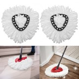 2PCS Microfiber Replacement Mop Head for Spin Mop 360 Rotating Spin Mop