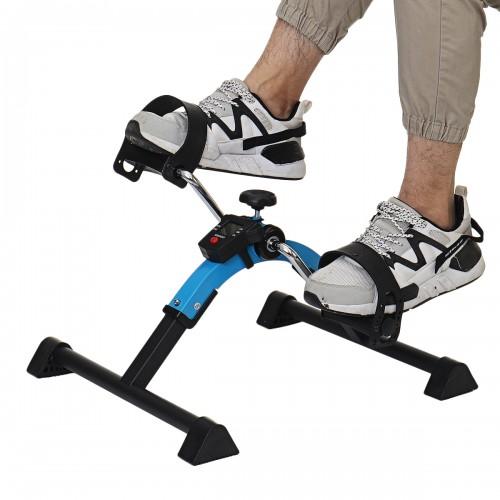 Home Indoor Fitness Bike Anti-slip Pedal LCD Display Bike Leg Arm Exercise Mini Leg Rehabilitation Cycling Exercise Tools