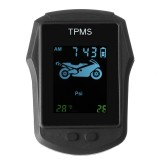 Motorcycle Real Time Tire Pressure Monitoring System TPMS Wireless LCD Display Waterproof With External Sensors