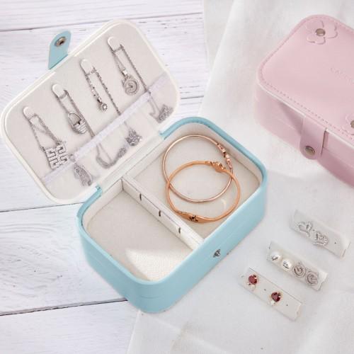 PU Leather Storage Box Smart Rings Storage Watch Box Double-layer Jewelry Storage Portable Storage Box