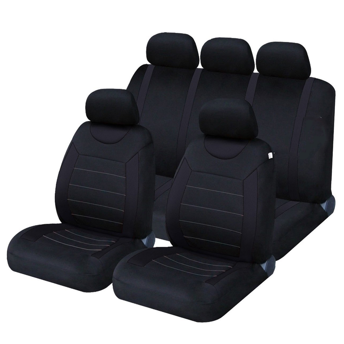 9PCS Universal Leather Deluxe Car Cover Seat Protector Cushion Front Rear Covers