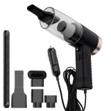 120W 3 In 1 Car Vacuum Cleaner 4500Pa Powerful Suction Wet Dry Dual Use Low Noise LED Lighting Double Layer Filter for Home Car