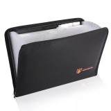Fireproof File Folder Accordion Document Bags 12 Pockets Zipper Closure Pouch Silicone Large Capacity Portable File Bag