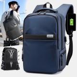 Men USB Charging Outdoor Nylon Travel Waterproof Large Capacity 13 Inch Laptop Bag Travel Bag Backpack
