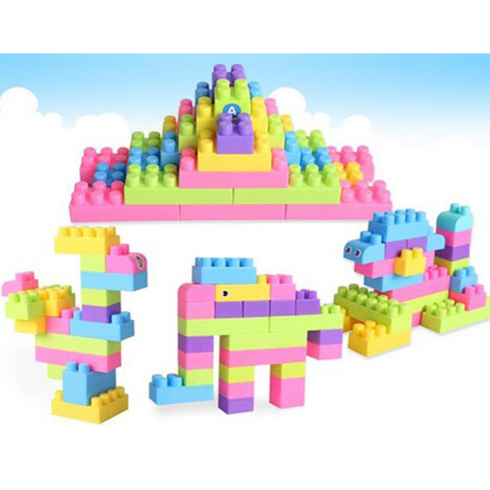 100pcs DIY Children's Assembling Toys Plastic Thickened Large Particles Building Blocks Creative Educational Toys