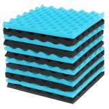 12Pcs Acoustic Soundproofing Studio Foam Tiles Sound-Proof Foam Tile Acoustic Studio Wedge Board Set