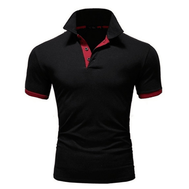 Summer Men's Polocollar T-shirt Men Short-sleeved Casual Quick-drying Clothes Running Sports Breathable Top
