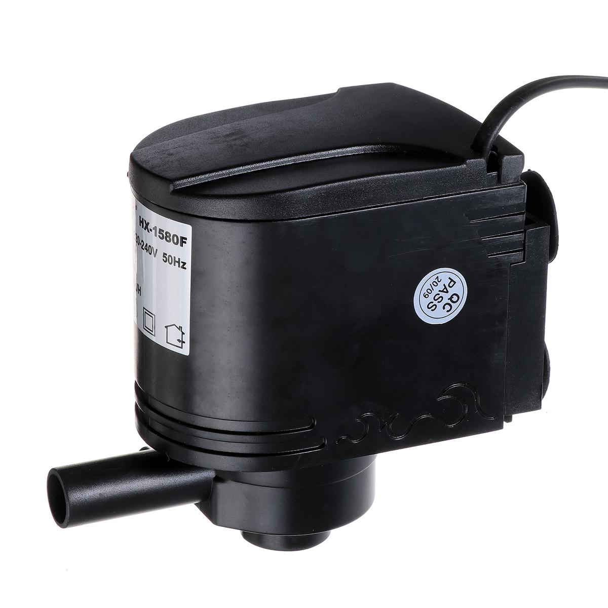 3 IN 1 12/18/25/35/40W Aquarium Water Internal Pump Submersible Fish Tank Filter Pump