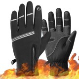 WEST BIKING Winter Cycling Gloves Men Windproof Warm Bicycle Gloves Waterproof Touch Screen Motorcycle Bike Gloves