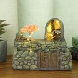 Cabin Pot Light Garden Fairy Small House Succulent Green Plant Planter Herb Flower Basket Bonsai Pot Home Decor