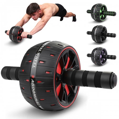 Silent Abdominal Wheel Roller AB Muscle Trainer Gym Home Exercise Body Muscle Building Fitness Equipment