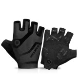ROCKBROS S196 Cycling Gloves Half Finger Shockproof Windproof Anti-slip MTB Road Bicycle Gloves Winter Camping Travel