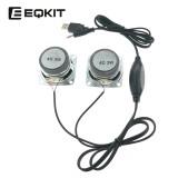 EQKIT Mini Speaker DIY Kit USB Power Amplifier Wire Control Small Speaker DIY Speaker Parts