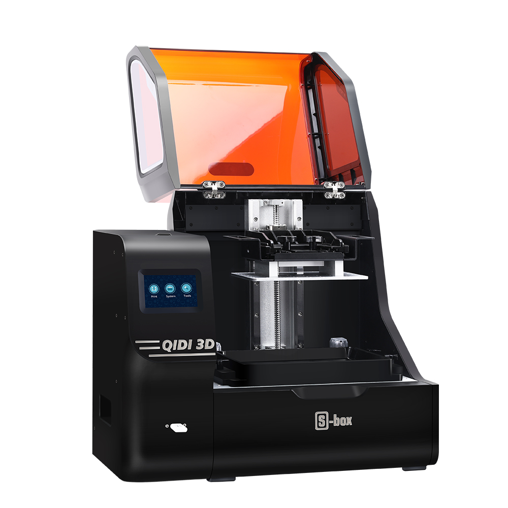 QIDI S-box UV LCD Resin 3D Printer 215*130*200mm Build Volume with UpgradedMatrixUVModule/Large Resin Vat Capacity/High Accuracy Printing