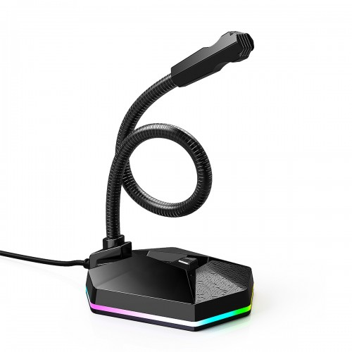 RGB Computer Microphone Wired Microphone Gaming Microphone Desktop Laptop USB Microphone for Podcast Video Game