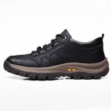 TENGOO Men's Casual Leather Shoes Classic Outdoor Sports Hiking Shoes Trekking Men's Footwear