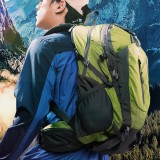 Men 40L Polyester Waterproof Light Weight Large Capacity Sport Hiking Travel Backpack