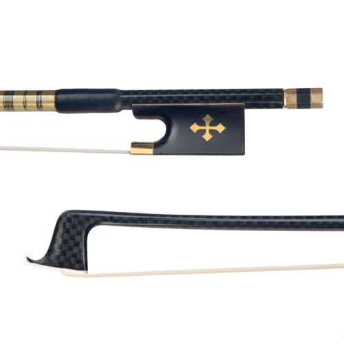 Naomi Advanced 4/4 Size Violin Bow Carbon Fiber Violin/Fiddle Bow Grid Carbon Fiber Stick Brass Accessoires Durable Use