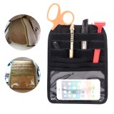 2-in-1 600D Polyester Car Seat Organizer Multi-Pocket Seat Head Cover Cushion Tactical Storage Bag